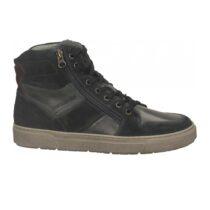 Sneaker Alta Uomo Nero Giardini in Camoscio Blu - I001751U200