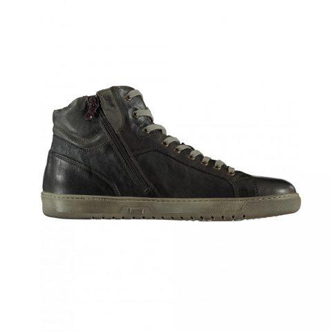 Sneaker Alta Uomo Nero Giardini in Pelle Moro Blu - I001731U300