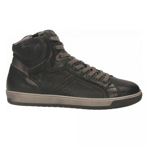 Sneaker Alta Uomo Nero Giardini in Pelle Nera - I001731U100
