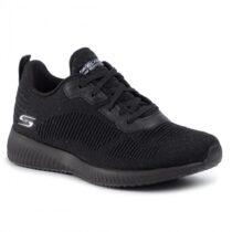 Sneaker Donna Running Skechers Bobs Squad Nera Silver - 32502BKSL