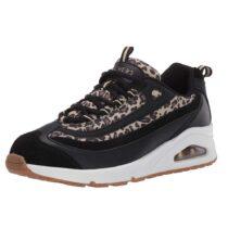 Sneaker Donna Skechers Wild Streets Nera Leopardata - 73674BKLD