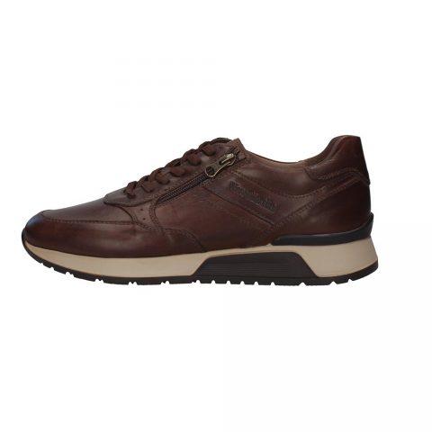 Sneaker Uomo Nero Giardini in Pelle Testa di Moro - I001723U300