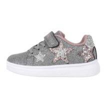 Sneaker Bambina Lelli Kelly Grigia con Stelle - LK5818