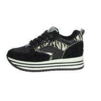 Sneaker Ragazza Nero Giardini Teens in Tessuto Nera - I031670F100