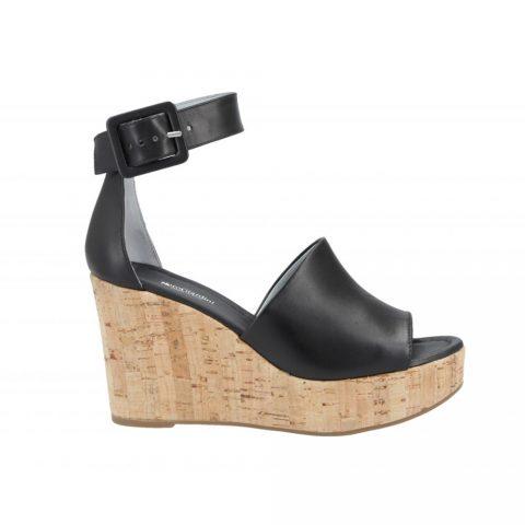Sandalo con Zeppa Donna Nero Giardini Tamigi Nero - E115811D100
