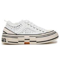 Sneaker Donna Cafè Noir con Strass Bianca - C1DM9030W001