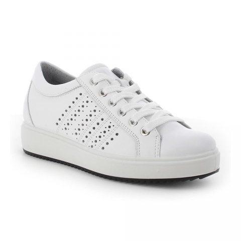 Sneaker Donna Igi&Co in Pelle Bianca - 7155100