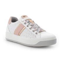 Sneaker Donna Igi&Co in Pelle Bianca e Stampa Rosa - 7156355