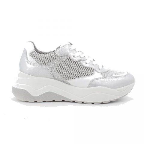Sneaker Donna Igi&Co in Pelle Rete Bianca - 7154044