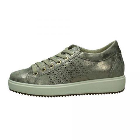 Sneaker Donna Igi&Co in Pelle Taupe - 7155122