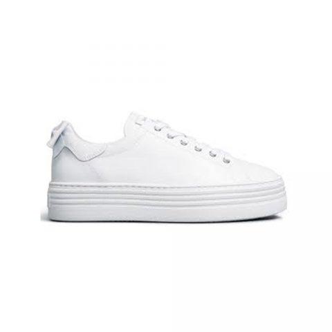 Sneaker Donna Nero Giardini Fiocco Bianca - E010700D707