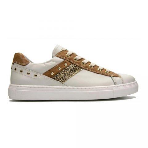 Sneaker Donna Nero Giardini Glitter Bianca Cuoio - E115282D710
