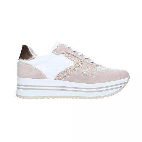 Sneaker Donna Nero Giardini Glitter Rosa - E115194D677