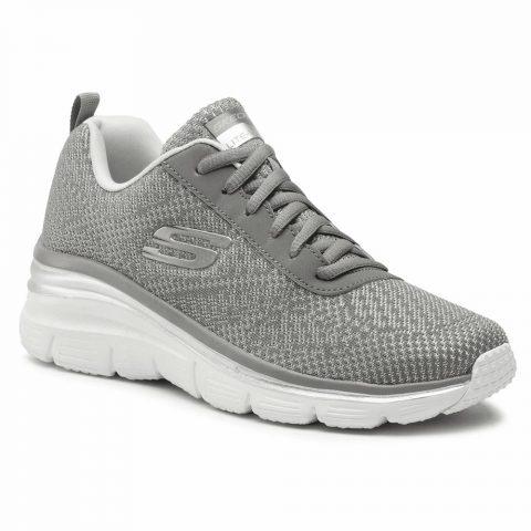 Sneaker Donna Running Skechers in Tessuto Grigia - 12719GYLV