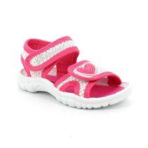 Sandalo Bambina Grunland Junior Flin Bianco Fuxia - PS006048