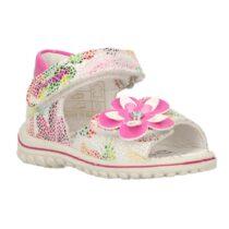 Sandalo Bambina Primigi Baby Sweet Bianco e Fucsia con Fiore - 7375611
