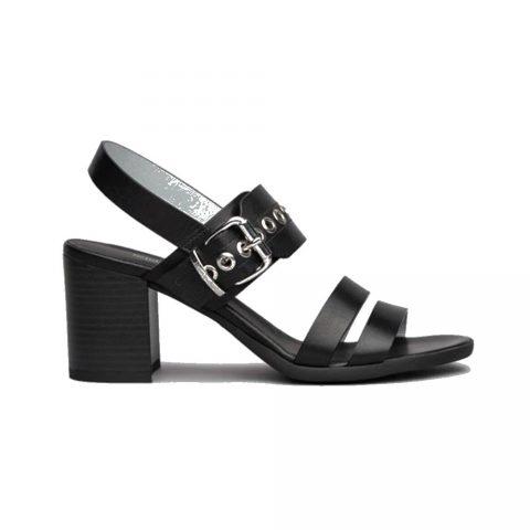 Sandalo Donna Nero Giardini Tamigi in Pelle Nero - E115561D100