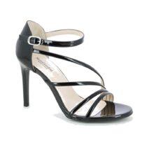 Sandalo Donna Nero Giardini Vernice in Pelle Nero - E116521DE100