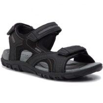Sandalo Uomo Geox Strada Nero - U8224D050AUC9310