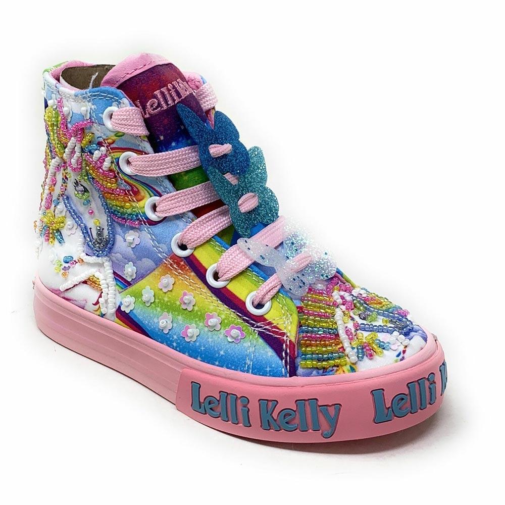 Sneaker Alta Bambina Lelli Kelly Unicorno LK9099
