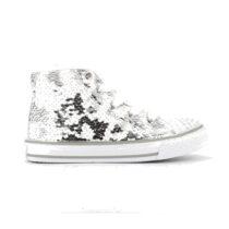 Sneaker Bambina Primigi College Micropail Bianco Argento - 7457877