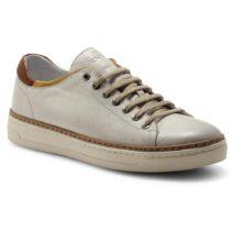 Sneaker Uomo Exton Enna in Pelle Avorio - 757