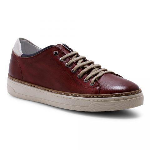 Sneaker Uomo Exton Enna in Pelle Vinaccia - 757