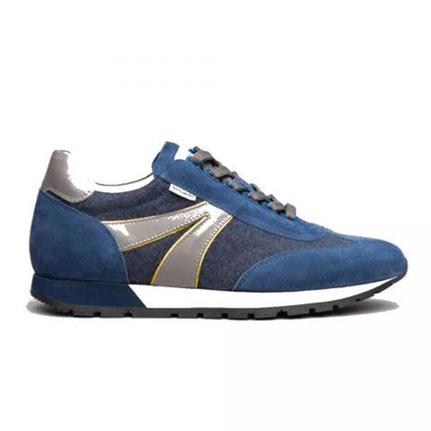Sneaker Uomo Nero Giardini Colorado in Camoscio Blu - E102041U244