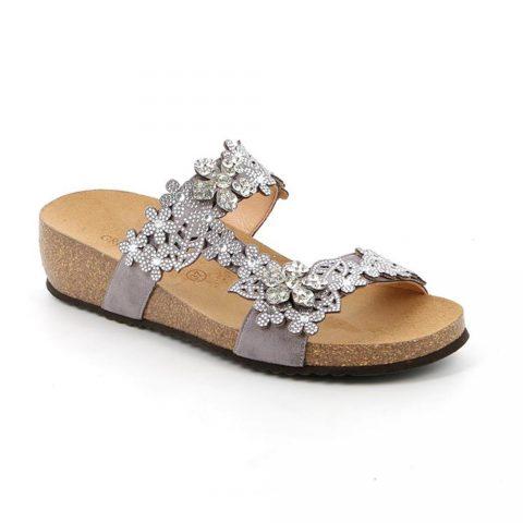 Sandalo Donna Grunland Memi Argento - CB095570