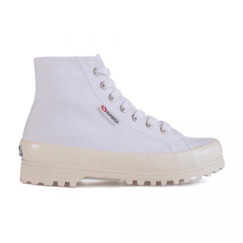 Sneaker Alta Donna con Zeppa Shiny Bianca Superga - S111TCW