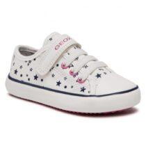 Sneaker Bambina Geox Gisli Off White - J154NE000AWC1002