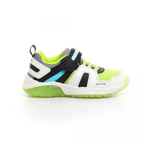 Sneaker Ragazzo Geox J Spaziale B. A Bianca e Lime - J04CQA014CEC0810