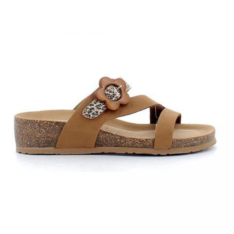 Sandalo Donna Bio Natura in Pelle Brandy - 12A2038
