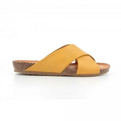 Sandalo Donna Bio Natura in Pelle Giallo - 68SIENA