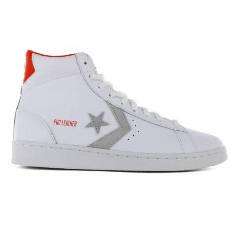 Sneaker Alta Uomo Converse Nera Pro Leather Bianca - 171316C