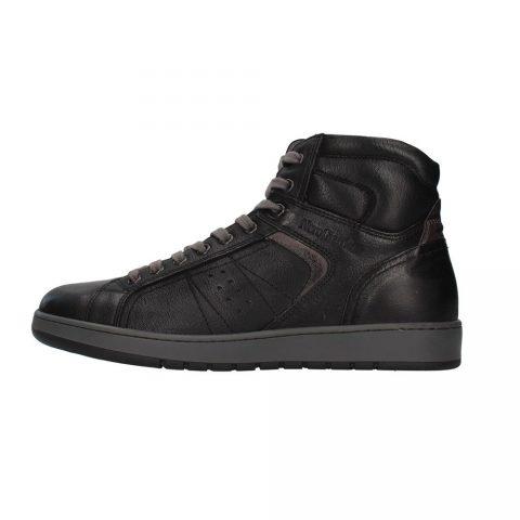 Sneaker-Alta-Uomo-Nero-Giardini-in-Pelle-Nera---I102190U100