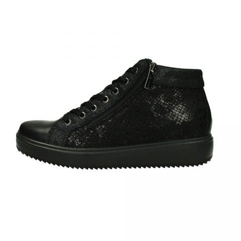 Sneaker Donna Igi&Co Athena in Pelle Nera - 8171300