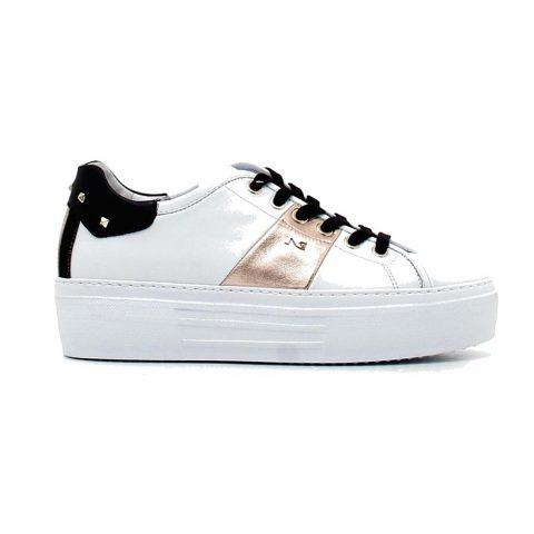 Sneaker Donna Nero Giardini Skipper Bianca - I117011D707