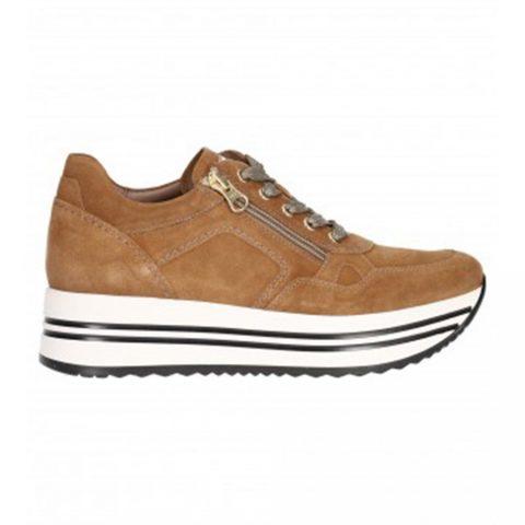 Sneaker Donna Nero Giardini Velour Malto - I116934D339