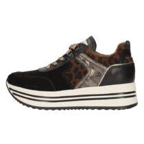 Sneaker Donna Nero Giardini in Camoscio Velour Nero - I013290D100