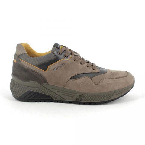 Sneaker Uomo Igi&Co Setup in Pelle Fango Chiaro - 8134433